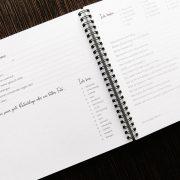 Freundebuch Innenansicht