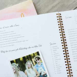 Freundebuch Freundschaftsbuch Innenansicht Detail