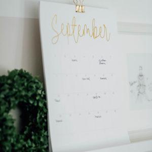 Geburtstagskalender/Immerwährender Kalender Monatsansicht September