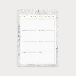 Social Media & Blog Planner