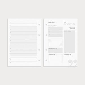 Daily Planner mit Goals Notes und Challenge of the Day