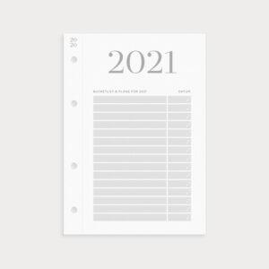 Klappkalender 2021 mit Bucketlist und Plänen