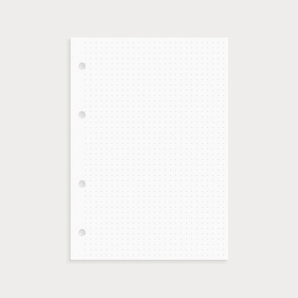 Notizseiten Gepunktet für Bullet Journal