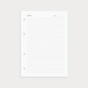 Notizseiten liniert Notes und Datum