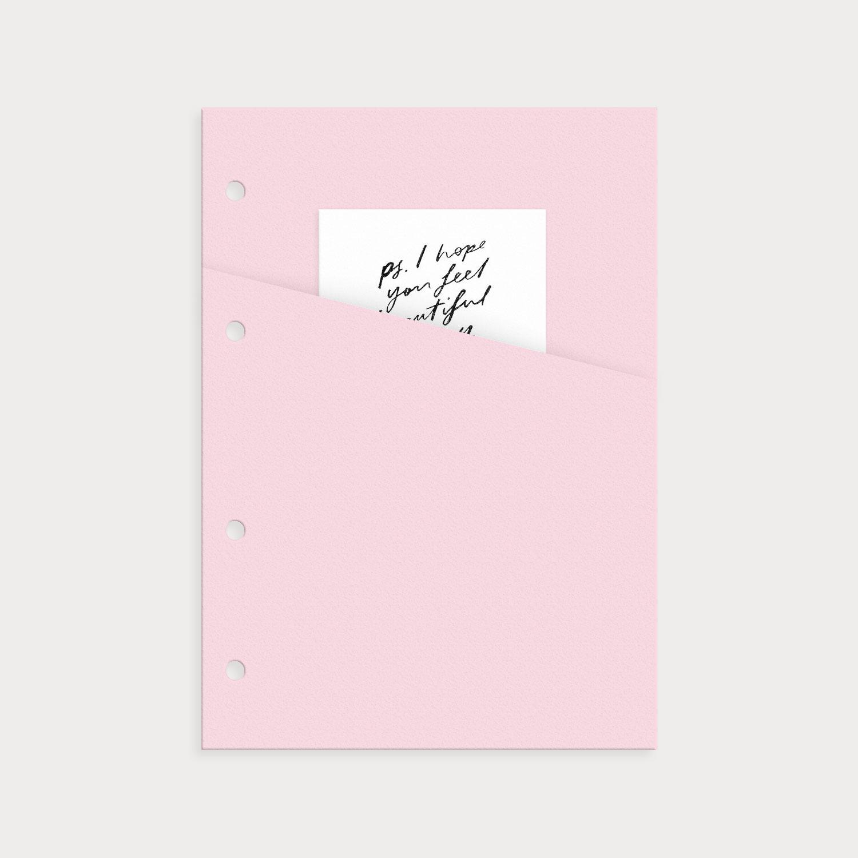 Tasche rosé mit Notiz