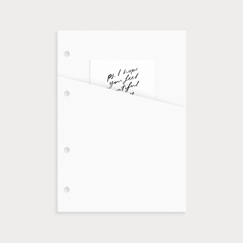 Tasche Weiß mit Notiz