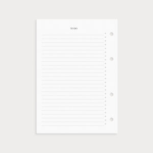 To Do Liste mit Bullet Points