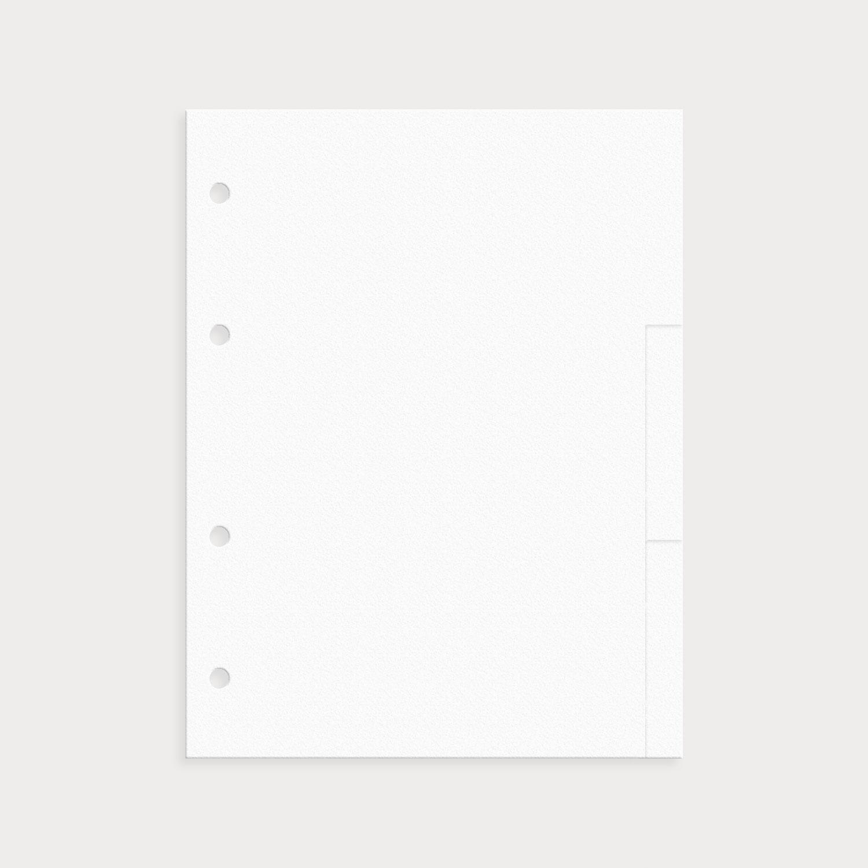 Register Weiß Blanko