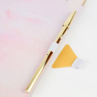 Stiftschlaufe Weiß zum Kleben