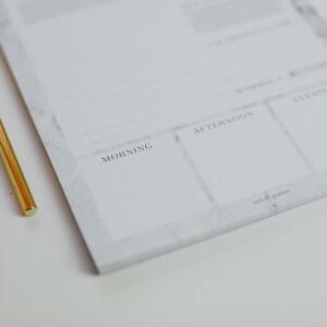 Daily Planner Marble Detailansicht