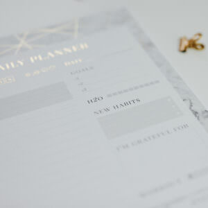 Daily Planner Marble Block Details