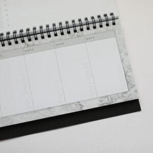 Tischkalender Marble mit Datum