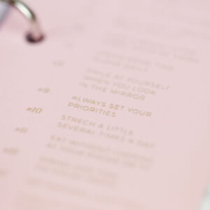 Lesezeichen Rosé Detailansicht