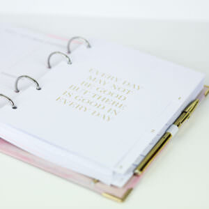 Register Weiß im Ringbuch Aquarell