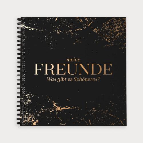 Freundebuch Black Meine Freunde was gibt es schöneres?