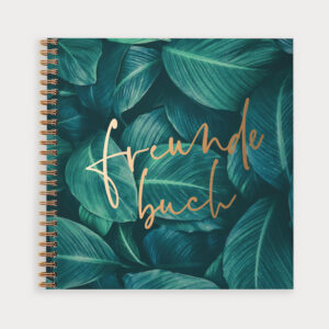 Freundebuch Greenery mit Goldakzenten