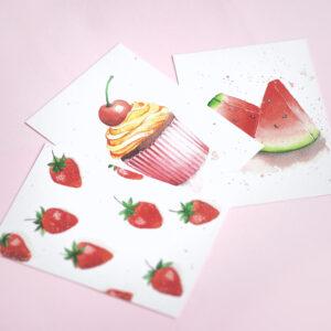 Postkartenset Watercolor Aquarell