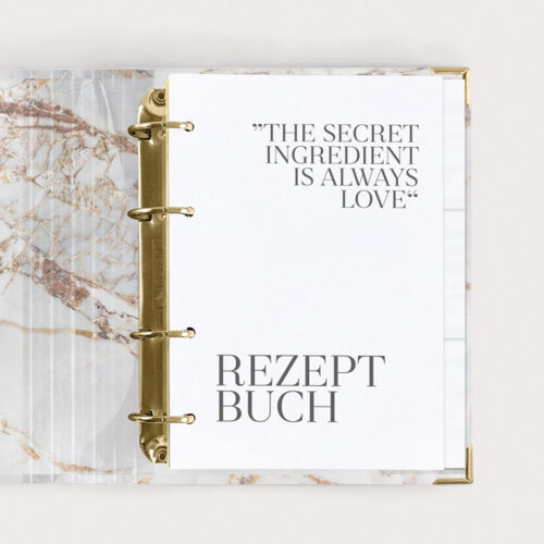 Rezeptbuch Kochbuch White