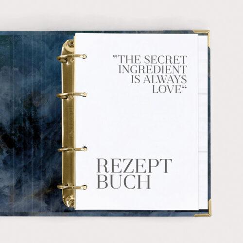 Rezeptbuch Midnight im Ringbuch