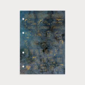 Sticker Midnight mit goldenen Stickern