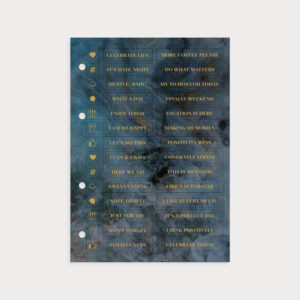 Stickerbogen Midnight mit Gold