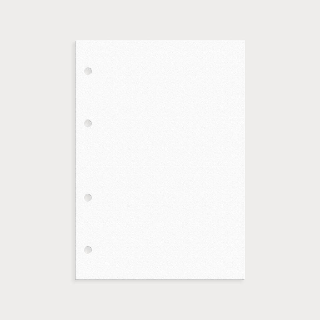 Notizseite Blanko Weiß