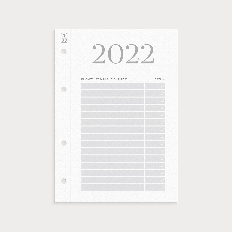 Klappkalender 2022 mit Bucketlist und Pläne