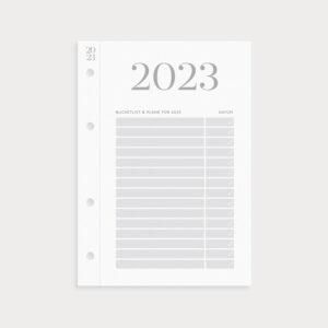Klappkalender 2023 Bucketlist und Pläne mit Datum