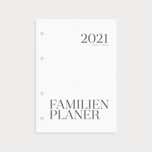 Familienplaner 2021 Coverseite