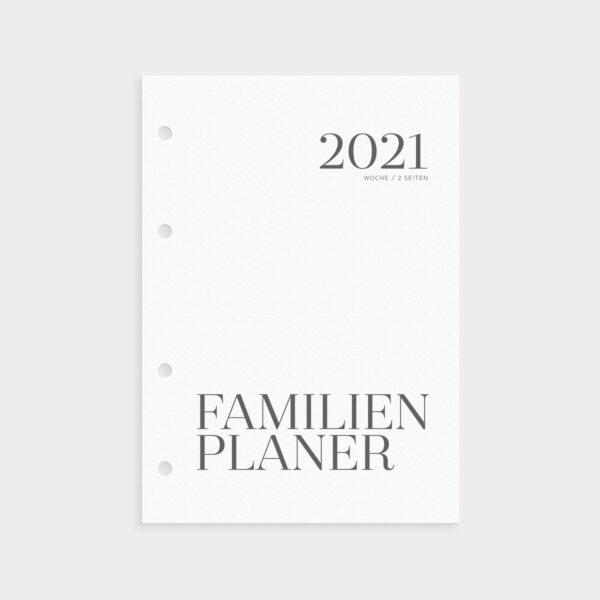 Familienplaner 2021 Coverseite