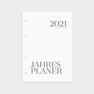 Jahresplaner 2021 Coverblatt