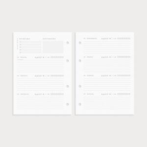 Jahresplaner Seiten Wochenübersicht