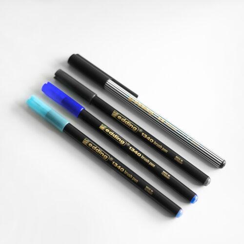 Edding Brush Pen Set Midnight für Brushlettering