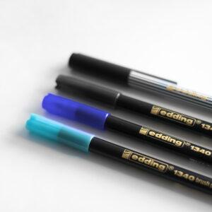 Edding Brush Pen Set Midnight mit Kappen