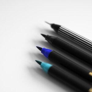 Edding Brush Pen Set Midnight mit Fineliner