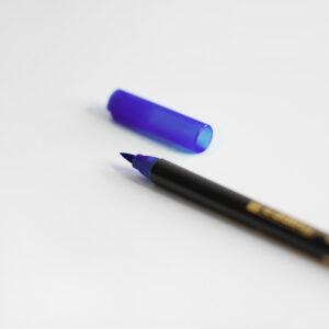 Edding Brush Pen Blau mit Kappe