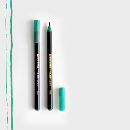 Edding Brush Pen Grün mit Pinselspitze
