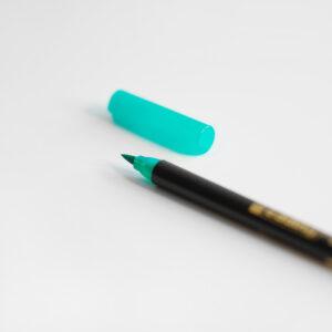 Edding Brush Pen Grün mit Kappe