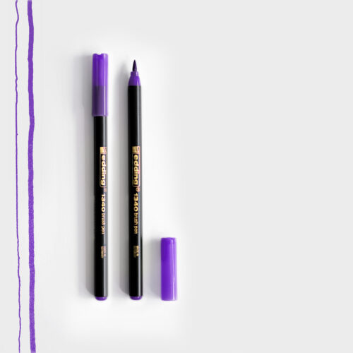 Edding Brush Pen Violett mit Pinselspitze