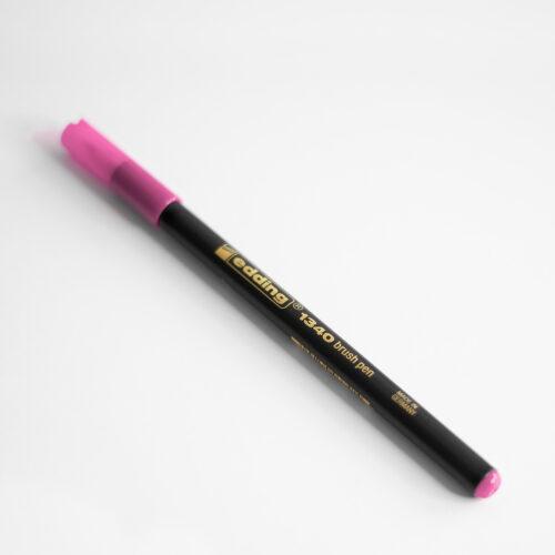 Edding Brush Pen Rosa mit Kappe