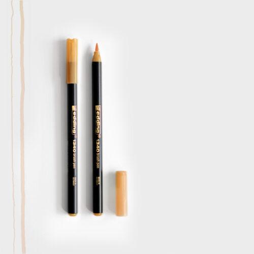 Edding Brush Pen Hellorange mit Pinselspitze