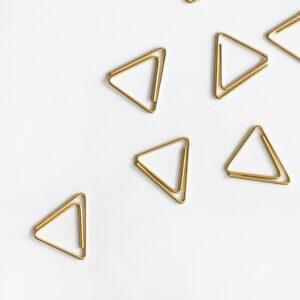 Goldene Clips Dreiecke