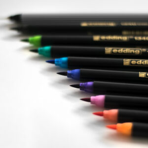 Edding Brush Pen Set Bunt mit Pinselspitzen