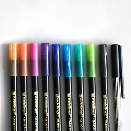 Edding Brush Pen Set mit Fineliner