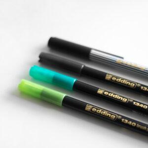 Edding Brush Pen Set Greenery mit Kappen