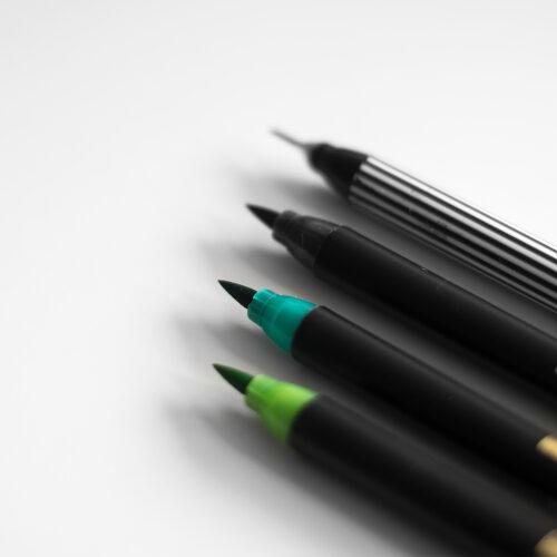 Edding Brush Pen Set Greenery Pinselspitzen