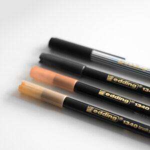 Edding Brush Pen Set Nude mit Kappen