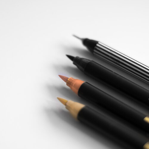 Edding Brush Pen Set Nude mit Pinselspitzen