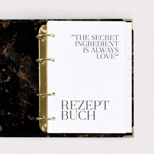 Kochbuch Rezeptbuch zum Ausfüllen