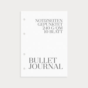 Bullet Journal Notizseiten 240g/qm 10 Blatt